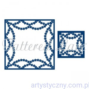 Wykrojniki Tattered Lace - Ramki - A Little Bit Ditsy Flowers ETL249