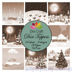 Papiery Dixi Toppers Crafts - 9x9 cm- 24 sheets ET0270