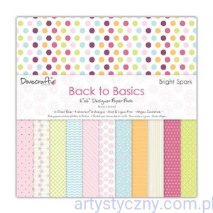 Papiery Ozdobne - Back to Basics Bright Spark - 15,3x15,3 cm ~ 72 ark