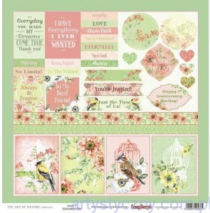 Papier do Scrapbookingu, The Art of Nature Cards 2, 30x30сm