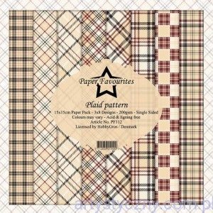 Papiery Dixi Craft 15x15cm Plaid Pattern PF112