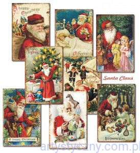 Papiery Mini do Scrapbookingu M73, Santa Claus 24 ark