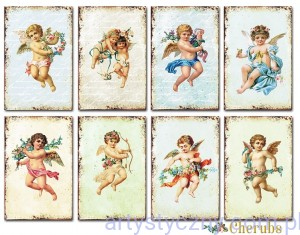 Papiery Mini do Scrapbookingu M57, Cherubs, Amorki 24 ark