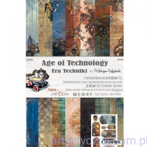 Papiery do Scrapbookingu - Age of Technology, 14 ark A4