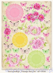 Papier do Scrapbookingu A4, 250gsm - Fresh Summer,  Vintage Time 014