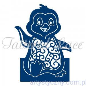 Wykrojnik Tattered Lace - Christmas Cuties Penguin Pingwin ETL152