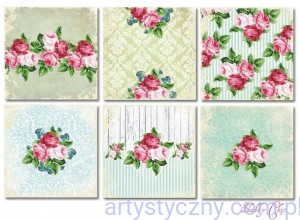 Papiery do Scrapbookingu 20x20cm, Shabby Chic, 6 ark