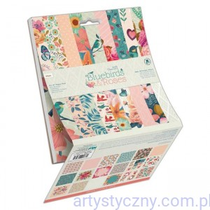 Papier Papermania - Bluebirds & Roses 15x15cm - 36 ark