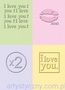 4 Foldery Cuttlebug - I LOVE YOU - 5x7 cm