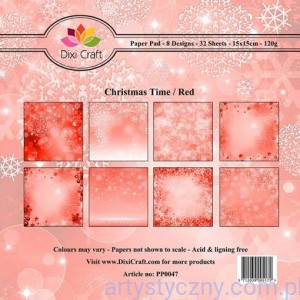 Papiery Dixi Craft - 15x15cm Christmas Time/Red PP0047