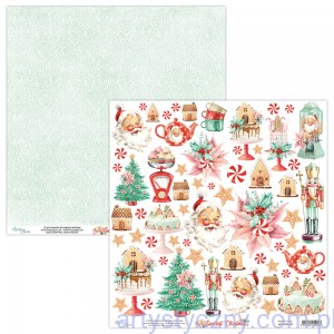 Papier Mintay z elementami - The Sweetest Christmas 09, 30x30cm