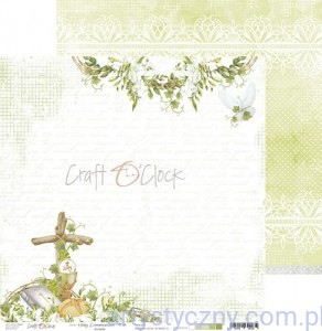 Papier do scrapbookingu Brokat Holy Communion - 03, 30x30cm
