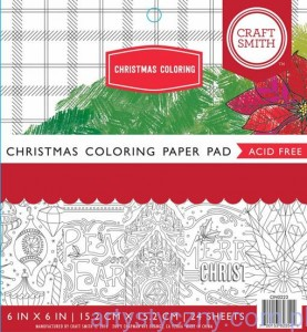 Papier Craft Smith Christmas Coloring 15x15cm, 24 ark