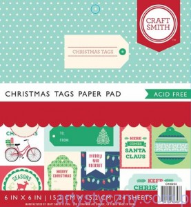 Papier Craft Smith Christmas Tags 15x15cm, 24 ark