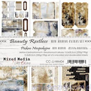Papiery Junk Journal, Beauty Restless, Mixed Media - 15x30cm