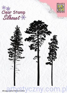 Stemple Akrylowe Nellie's Choice, 3 Pinetrees - 3 Sosny SIL037