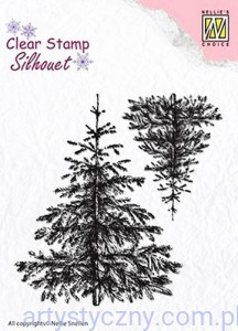 Stemple Akrylowe Nellie's Choice, Christmas fir-tree, Choinki SIL038