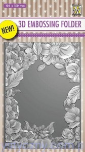 Folder do embossingu 3D - Flower Frame, Ramka Kwiaty EF3D09