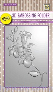 Folder do embossingu 3D Branch with Flowers, Kwiaty EF3D05