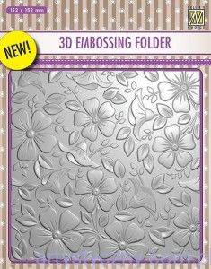 Folder do embossingu 3D Flowers, Kwiaty EF3D03