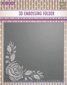 Folder do embossingu 3D Rose Corner, Róże EF3D12