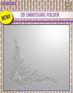 Folder do embossingu 3D Poinsettia Corner, EF3D06