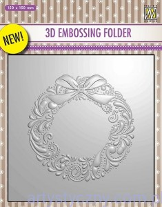 Folder do embossingu 3D Wreath, Wieniec EF3D07
