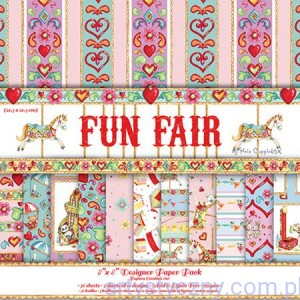 Papiery Ozdobne Fun Fair - 20,3x20,3 cm ~ 12 ark