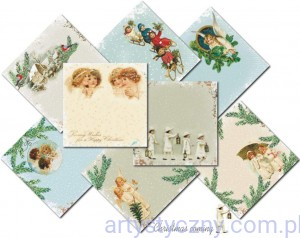 Papiery do Scrapbookingu 15x15cm - Christmas Coming - 8ark