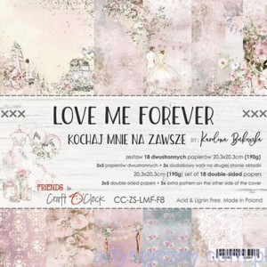 Papiery Craft o'Clock - Love Me Forever, 18 ark, 20x20cm