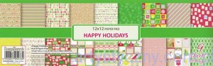 Papiery do Scrapbookingu - Happy Holidays, 9 ark, 30x30cm