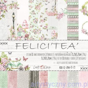 Papiery Craft o'Clock - FELICI'TEA' - 15x15 cm - 9 ark