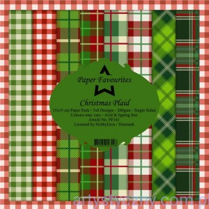 Papiery Dixi Craft 15x15cm Christmas Plaid PF141