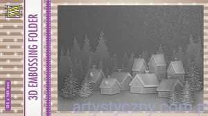 Folder do embossingu 3D Snowy Village, Zimowa Wioska EF3D17