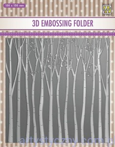 Folder do embossingu 3D Trees, Drzewa Las EF3D13