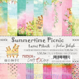 Papiery Craft o'Clock, Summertime Picnic - 9ark, 15x15cm