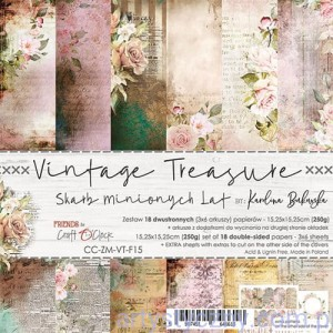 Papiery Craft o'Clock - Vintage Treasure 15x15cm, 18 ark