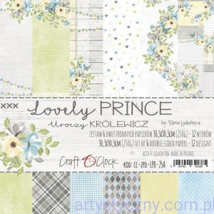 Papiery Craft o'Clock, Lovely Prince, 6 ark, 30x30cm