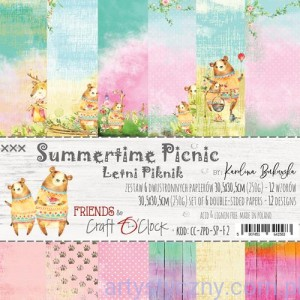 Papiery Craft o'Clock, Summertime Picnic, 6 ark, 30x30cm