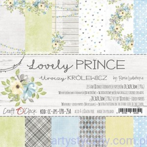 Papiery Craft o'Clock - Lovely Prince 6ark, 20x20cm