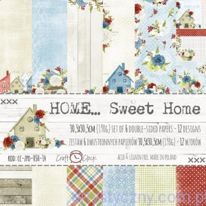 Papiery Craft o'Clock - Home Sweet Home - 30x30cm, 6ark