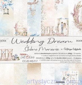 Papiery Craft o'Clock, Wedding Dream 6ark, 30x30cm