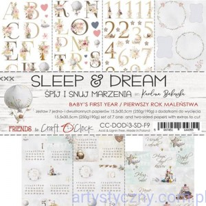 Zestaw dodatków do wycięcia Craft o'Clock - Sleep and Dream, Baby's First Year