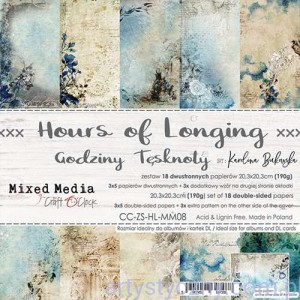 Papiery Craft o'Clock, Hours of Longing, Mixed Media - 20x20cm