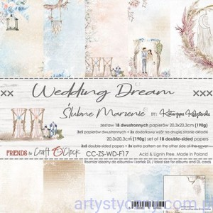 Papiery Craft o'Clock - Wedding Dream, 18 ark, 20x20cm
