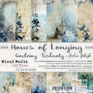 Papiery Craft o'Clock - Hours of Longing, Mixed Media - 15x15cm, 24 ark