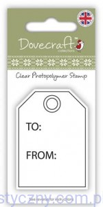 Stempel Akrylowy Dovecraft Christmas - Gift Tag 007