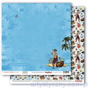 Papier do Scrapbookingu, The Pirate's Treasure, Land Ahoy! 30x30сm