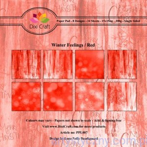 Papiery Dixi Craft - 15x15cm Winter Feelings Red PPL007