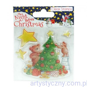 Stemple Akrylowe - The Night Before Christmas - Tree (4szt)